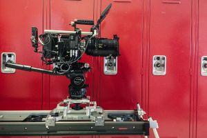 MYT Works Large Camera Slider, Red Camera, Cooke 100 Prime Lens Rosette Leg Adapter Kit