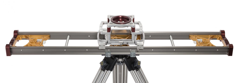 MYT Works Medium Camera Slider mounted on a tripod
